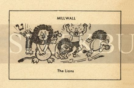 VINTAGE Football Print MILLWALL - THE LIONS Funny Cartoon